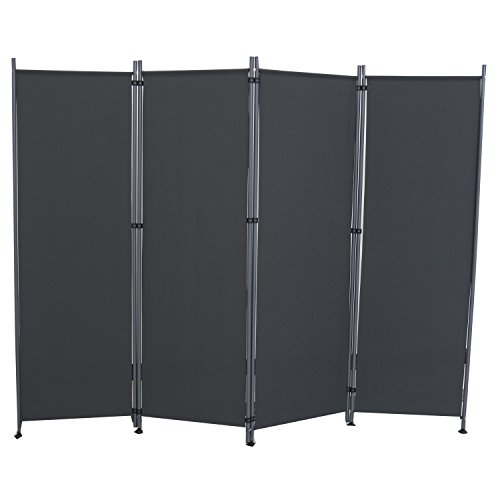 SAILUN® Stellwand 180x180cm/260x180cm Paravent Raumteiler Trennwand Sichtschutz (215cm x 170cm, Anthrazit)
