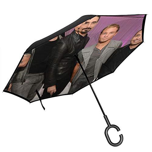 Backstreet - Paraguas inverso para niños, resistente al viento, impermeable, para coche, viajes al aire libre, adultos, hombres y mujeres