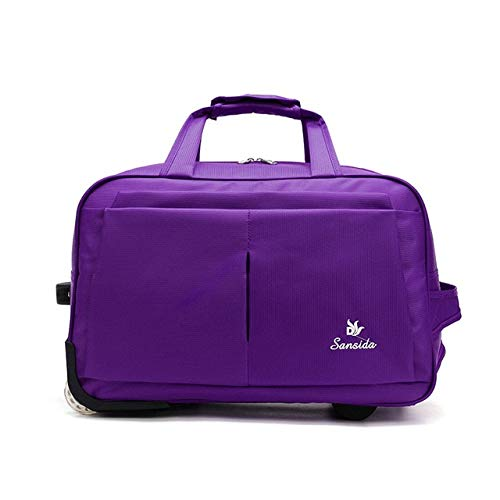 Mdsfe Luggage Trolley Bag Large Capacity Travel Bag with Wheels for Women Men Travel Suitcase Duffle Carry on Luggage Bag - 4, a2