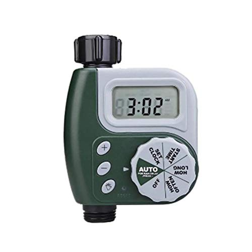 SHARRA Temporizador de riego automático Temporizador de Agua Digital Reloj de riego con Pantalla LCD Programas de riego para regar Flores, regar el césped