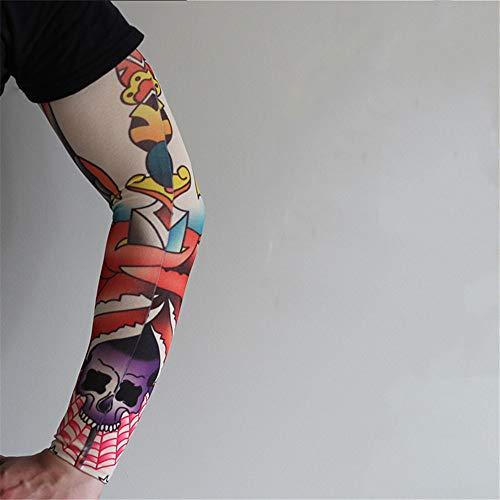 JinRui-Sport Tattoo Sleeve Angeln Sonnencreme Ärmel, alle Größen, H10 Dünnschliff 014 2 Packungen