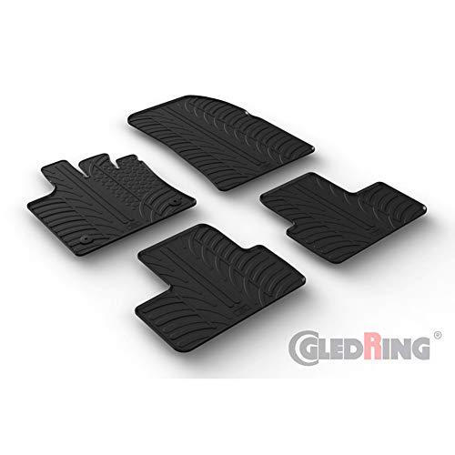 Set tapis de caoutchouc compatible avec Renault Captur II 1/2020- (T profil 4-pièces + clips de montage)