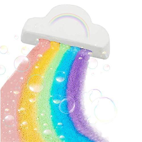 Regenbogen Badebomben, handgefertigte Sprudelbadebombe mit natürlichen und organischen Zutaten, Rainbow Bath Bomb Safe Material Skin Feuchtigkeitsspendende Haut Schöne für alle Menschen Kinder