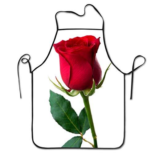 Schürze/Kochschürze/Küchenschürze/Grillschürze/Wasserdicht Latzschürze Adjustable Red Rose Psd Chief Apron Home Easy Care For Kitchen, BBQ, And Grill