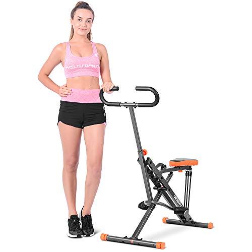 ONETWOFIT Squat Assist Row-N-Ride Kniebeugen, Ruder- und Fahrradheimtrainer für Kniebeugen, Ergometer, Heimtrainer, and Glutes Workout,Fitnessgerät