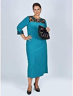 Nidya Moda Kadın Roba Dantel V Kombin Taşlı Abiye Elbise