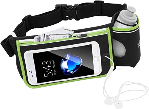 Geen Bounce Reflecterende Running Hydration Belt met BPA 280ml waterflessen, Hydration taille pack, SLIrts heuptas wandelen klimmen Running, iPhone6, 6s Plus, Samsung GalaxyS6 / 5 waardering 4/3/2 (Si