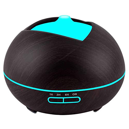 Aceites esenciales de aromaterapia, 400Ml Muy difusor humidificador con luces de 7 colores noche, máximo de 9H uso, el modo de reposo, sin agua de apagado automático, sin BPA, for el hogar, oficina, d