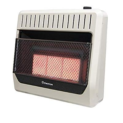 ProCom MG3TIR Dual Fuel Ventless Infrared Plaque Heater, 30,000 BTU, Black