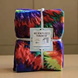 Tie Dye Anti-Pill No-Sew Throw Fleece Fabric Kit (72x60)