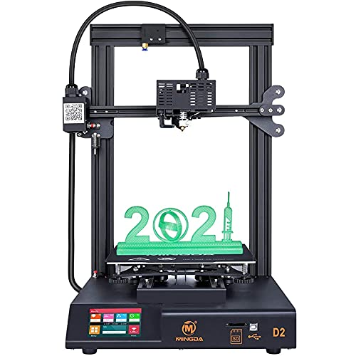 MINGDA 3D D2 Printer - FDM 3D Printing Machine with Dual Z, Direct Drive Extruder, Build Plate: 230x230x260mm, Silent 32 Bit Board. Great for DIY Beginners