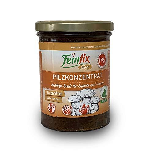 Feinfix Pilzkonzentrat 420g für 10 Liter Pilz-Fond | für Suppe und Sauce | Pilz Fond Konzentrat Frei von | Glutenfrei | Kalorienarm | Laktosefrei | Ohne Hefeextrakt