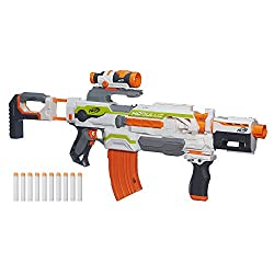 The toy gun will be sold in two different colors, red and blue, the