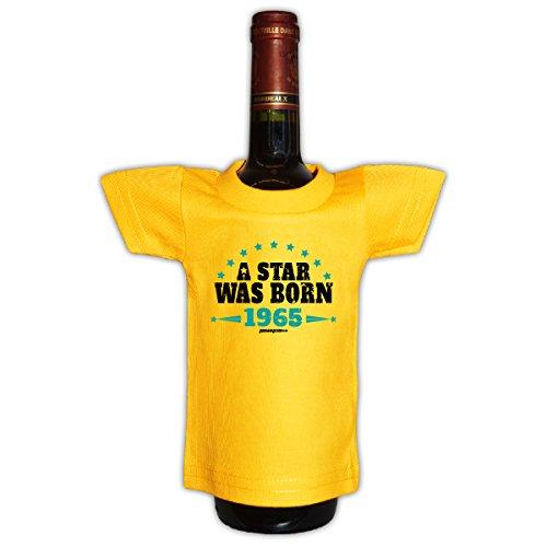 Tini - Shirts 55.Geburtstag - Deko und Geschenkverpackung für Flaschen/Weinflaschen - Jahrgang 1965 : A Star 1965-55 Jahre Deko - Flaschenshirt - !! für 2020 !!