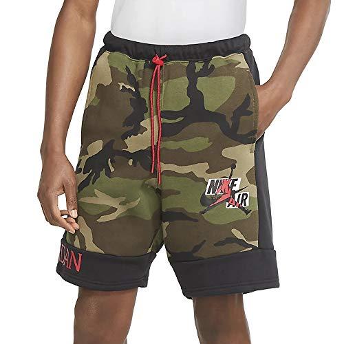 Nike Pantalones cortos deportivos de forro polar para hombre (clásicos Jordan/camuflaje, mediano)