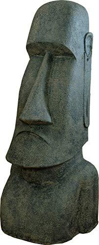 Moai Figur Garten 150cm Steinfigur Kopf Skulptur Figur Osterinsel Moai Kopf Garten Tiki Lavastein Figur Deko