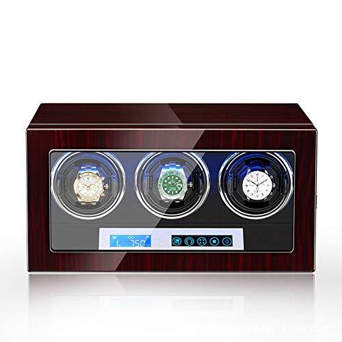 XYSQ Lujo Watch Winder,Caja De Reloj Enrollador Silenciador para Relojes Almacenamiento De Tocadiscos De Reloj con Funcionamiento De Fuente De Alimentación Exhibición