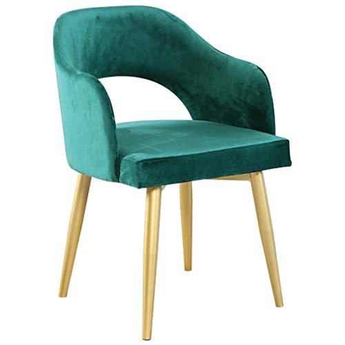 Moderner Esszimmerstuhl aus goldenem Eisen, Nordic Home Arm Sofa Chair, Sitzfläche aus ergonomischem Design Arc, für die Küche   Frühstück   Zähler   Wintergarten   Café   Pub