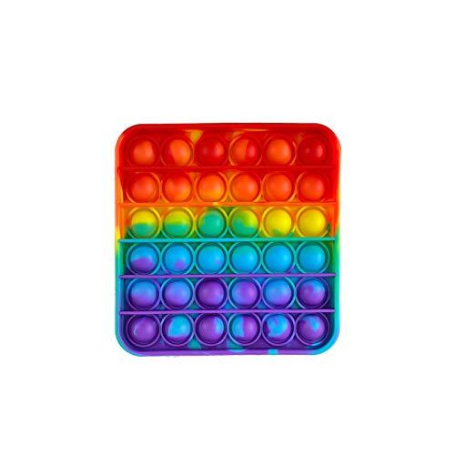 PAIDE P Fidget Toy Pop it Push Pop, Pop Bubble.Giocattoli Antistress sensoriale, Rilassante, autismo, allevia l'ansia. Bambini e Adulti. (Quadrato Multicolore)