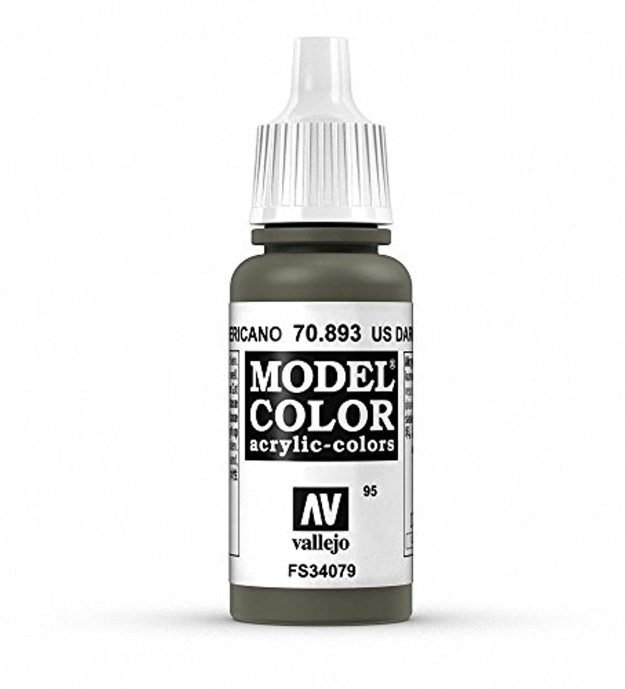 Vallejo Us Dark Green Model Color Paint, 17ml