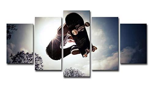 Skateboard, 5-delige schilderset, high-definition printen, muurschilderingen, moderne schilderijen, Home Decoration Painting, Canvas Printing 16X24/32/40Inch Met frame