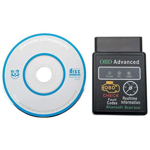 Riloer OBD2 ELM327 V2.1 Herramienta de Diagnóstico del Vehículo Soporte Inalámbrico Bluetooth PC/Plam/Windows Phone/Android Phone