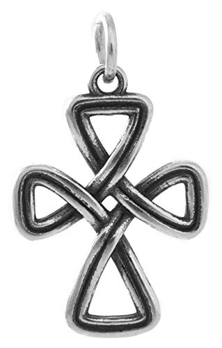 Sterling Silver Celtic Cross Infinity Knot - 3D Double Sided - (Pendant Only or Necklace) - Handmade, Solid .925