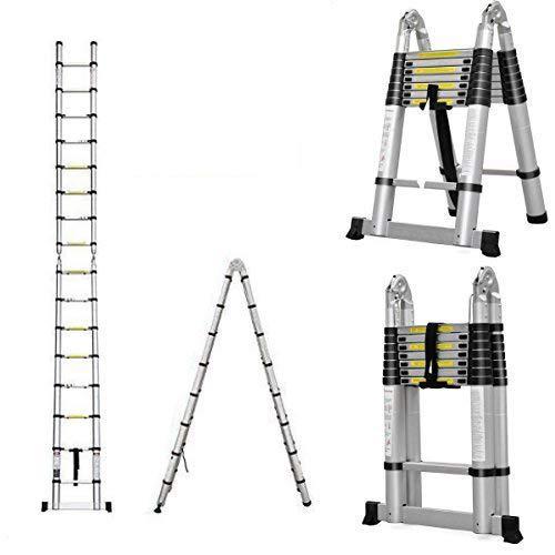 AutoBaBa Multi-Purpose 5M Aluminium Portable Telescopic Ladder