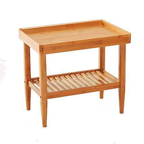 Tables HAIZHEN Pliable Nanzhu Petite Carrée De Thé pour Ménage 2 Couche De Stockage Petite Carrée Stations de Travail informatiques