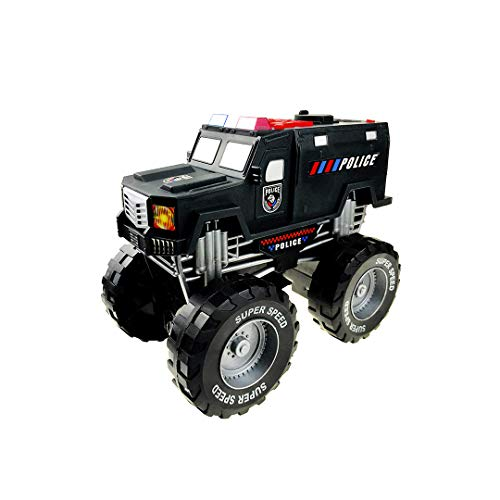Dazmers Monster Truck with Lights and Sounds, Police Vehicle Toy, for Boys and Girls Ages 3+ (Police)
