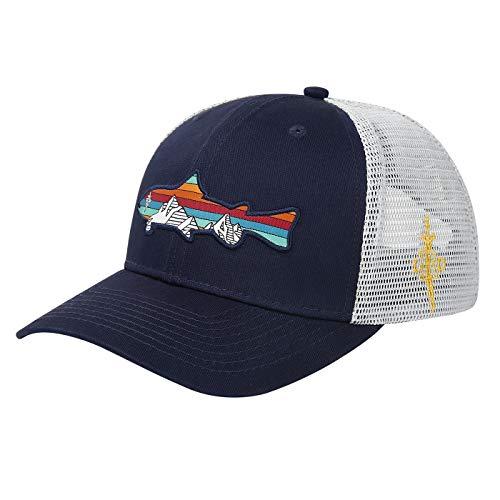 HDE Trucker Hat - Performance Outdoor Snapback Adventure Hats for Men - Trout