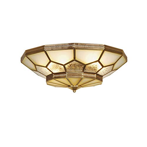 Moderne Messing Plafond Licht Multi-Flame Plafond Lamp Eenvoudige Ronde E14 Kroonluchter Verlichting voor Woonkamer Slaapkamer Keuken Decoratieve Verlichting