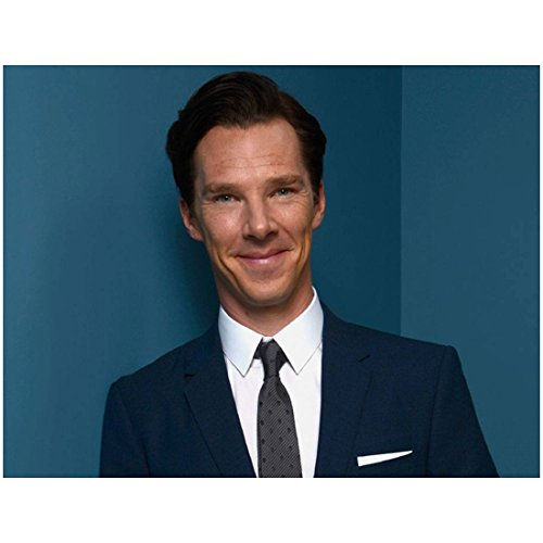 Benedict Cumberbatch Smiling Big in Blue Corner Wearing Blue Suit 8 x 10 Photo