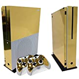 Gam3Gear Vinyl Decal Protective Skin Cover Sticker for Xbox One S Console & Controller (NOT Xbox One Elite / Xbox One / Xbox One X) - Gold
