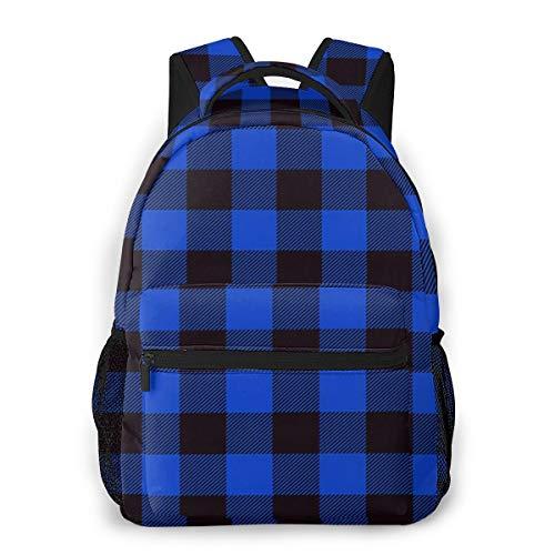 Laptop Rucksack Schulrucksack Buffalo Lumber Stripes Plaid, 14 Zoll Reise Daypack Wasserdicht für Arbeit Business Schule Männer Frauen