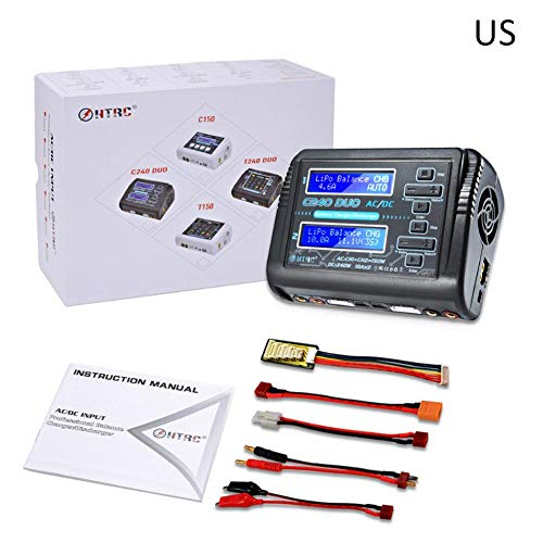 HTRC C240 DUO AC 150W DC 240W Dual battery Charger Channel 10A RC Balance lipo