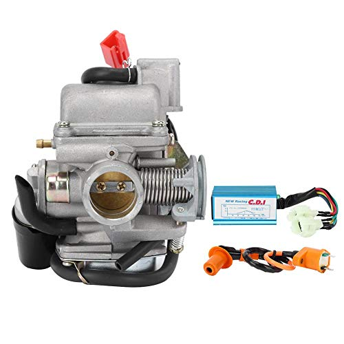 Carburateur Kit, GY6 Scooter 24mm/0.9in Carburateur CDI Bobine Ontstekingsset Geschikt voor ATV Go Kart 150cc