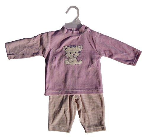 Baby Nicki Anzug 2tlg Rosa/Beige gestreift (56)