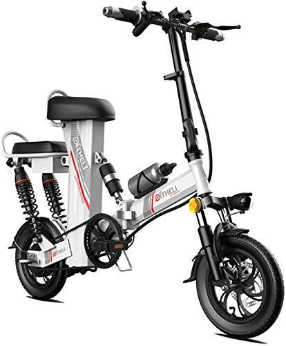 Bicicletta Elettrica, Elettrico Pieghevole for Adulti Bike 14  con 48V 350W 30Ah agli ioni di Litio, City Mountain Biciclette Booster 100-400KM,Bicicletta (Color : Silver, Size : Range:300km)