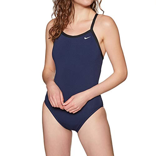 Nike Swim Poly Core Solid Racerback Badeanzug Damen Midnight Navy Größe US 36   DE 40 2019 Schwimmanzug
