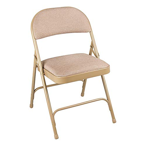 Norwood Commercial Furniture 6600 Series Folding Chair with Fabric Upholstered Seat, Gray, NOR-SRO593-FGR-SO (Pack of 4)