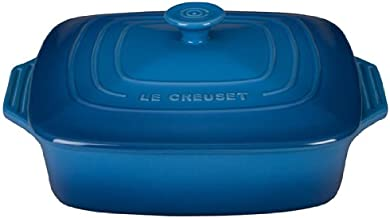 "Le Creuset Stoneware Covered Square Casserole, 2.75 qt. (9.5""), Marseille"