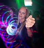 GloFX 6-LED Rave Toy Orbit: Light Rainbow Spinning Lightshow Orbital Toy Super Bright EDM Festivals
