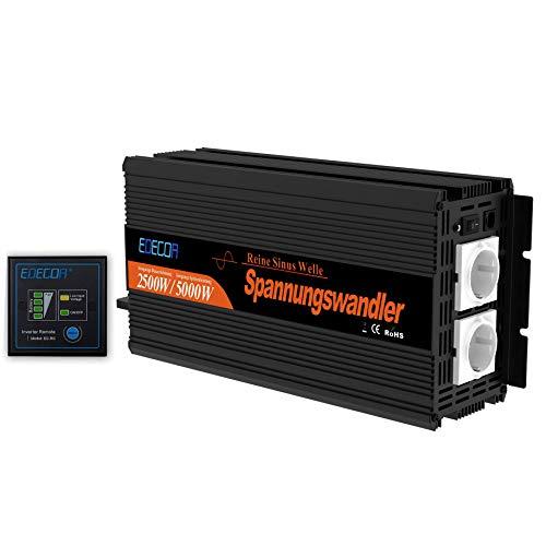 EDECOA Wechselrichter Reiner Sinus 2500w Spannungswandler 12v 230v...