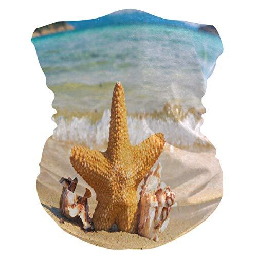 Beach Starfish Coastal Unisex Pasamontañas Bandana Cuello Gaiter Tubo Headwear Motocicleta Mascarilla Mágica Bufanda para Mujeres Hombres