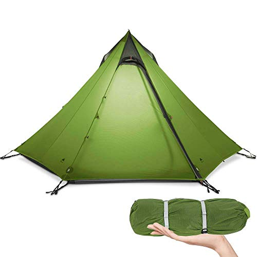Camping Tent, Ultralight Tent 3 Seizoen Camping Tent for 2-3 persoon Outdoor Camping, waterdichte Backpacken Piramide Tent, for Outdoor, Hiking