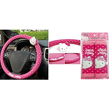 Pink Hello Kitty KIT3018 Steering Wheel Cover Rosa