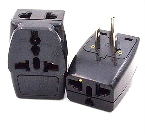 Universal Black 10A 250V AU EU UK to US Travel Converter Power Plug CE Certified Multi-Function Expansion Connector