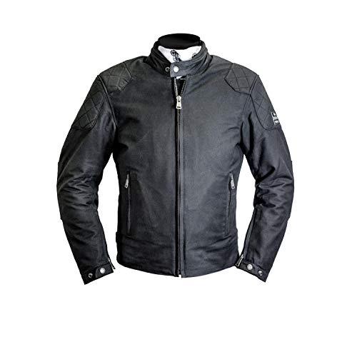 Helstons Compass - Chaqueta para moto (polialgodón, talla L), color negro