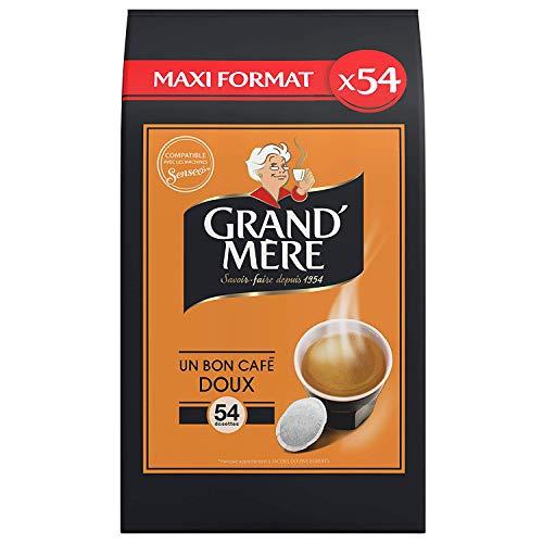 Grand Mère Café 54 Dosettes Doux compatibles Senseo®